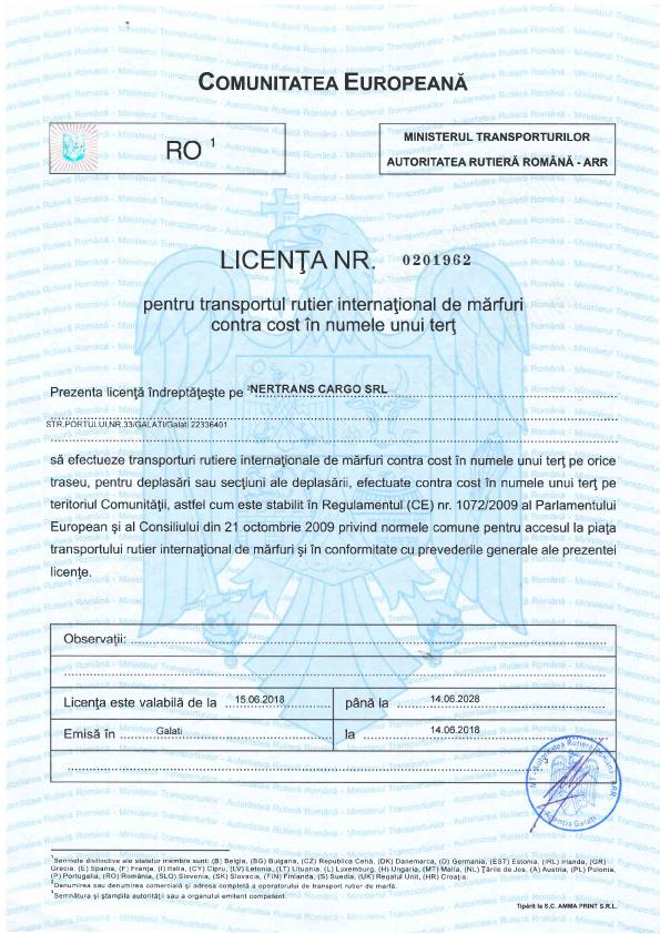 Transport-licenses